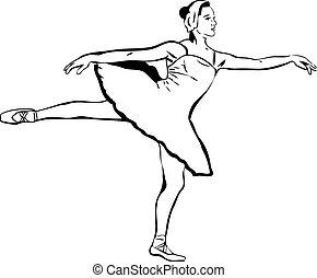 actress a ballet-dancer dancing party of swan