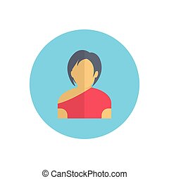 actress  flat color icon