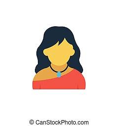 actress flat icon