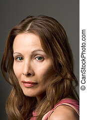 Actress Headshot - Headshot of middle aged Swedish woman...