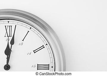 actuación, después, medianoche, cara de reloj