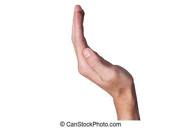 actuación, mano, persona, dedo, elaboración, arco, clavos