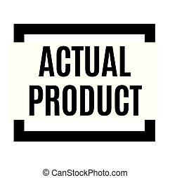 actual product black stamp, sticker, label, on white ...