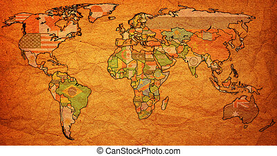World map and country flags this is a 3d computer stock actual world map gumiabroncs Images
