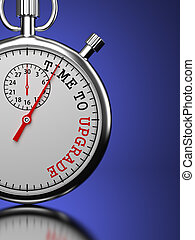 actualização, concept., tempo