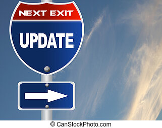 actualização, sinal estrada