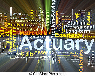 Actuary background concept glowing