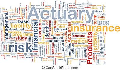actuary, concept, fond