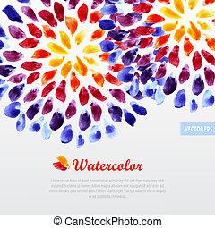 acuarela, arco irirs, pinceladas, plantilla, colorido