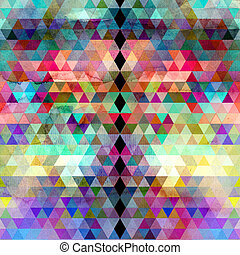 acuarela, geométrico, plano de fondo, triángulos