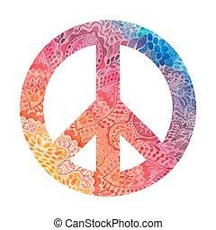 acuarela, símbolo, paz