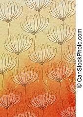 acuarela, wildflower