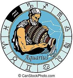 acuario, astrológico, zodíaco