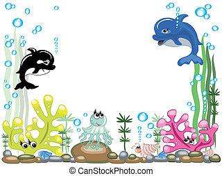 acuario, vector