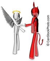 acuerdo, ángel, diablo