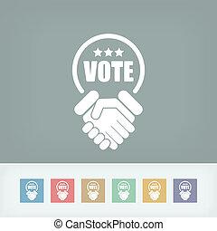 acuerdo, para, votos