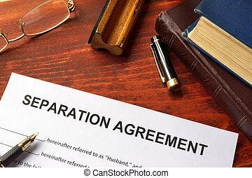 acuerdo, separación, forma