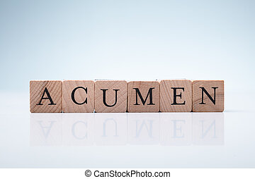 Acumen Word Made With Wooden Blocks