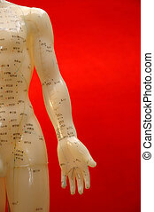 Acupuncture Background - Cropped close up of an acupuncture...
