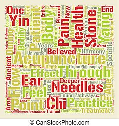 Acupuncture Closely Revealed text background word cloud concept