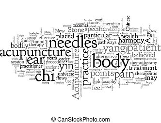 Acupuncture Closely Revealed text background wordcloud concept