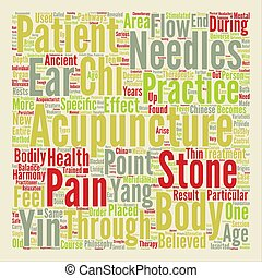 Acupuncture Closely Revealed Word Cloud Concept Text Background
