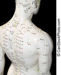 Acupuncture Concept - The Eastern or Asian acupuncture...