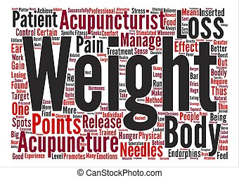 Acupuncture for Effective Weight Loss text background word cloud concept