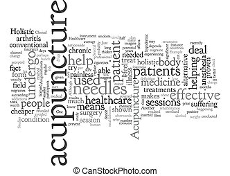Acupuncture is an Example of Holistic Healthcare text background wordcloud concept