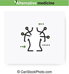 Acupuncture line icon.Reflexology.Traditional chinese medicine, oriental practise.Health care and wellness. Complementary and alternative medicine types.Isolated vector illustration. Editable stroke