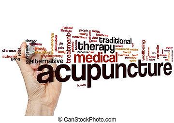 acupuncture, mot, nuage