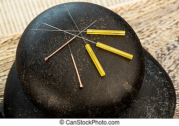 acupuncture needles - several needle for acupuncture are...