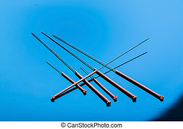 acupuncture needles - several needle for acupuncture are ...