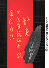 acupuntura, medicina, chinês