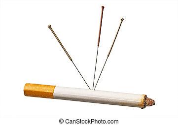 acupuntura, para parar, fumar