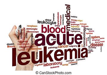 Acute leukemia word cloud concept