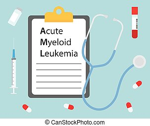 Acute Myeloid Leukemia medical concept- vector illustration