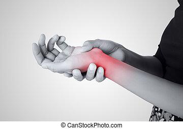 Acute pain in a women wrist, De-Quervain's tenosynovitis,...