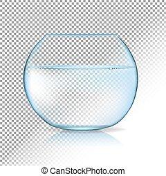 acvarium, transparente, fundo
