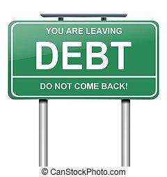 adósság, concept.