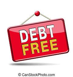 adósság, szabad, sáv
