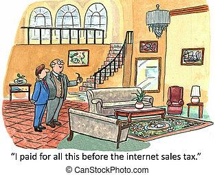 adót kiszab, értékesítések, internet