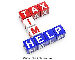 adót kiszab, idő, segítség