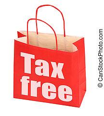 adót kiszab, szabad, aláír, táska, dolgozat, piros