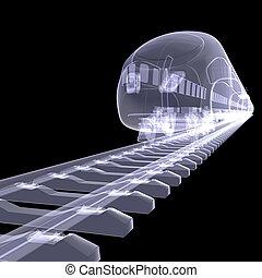 ad alta velocità, nuovo, treno