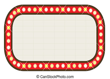 A blank movie theatre or theatre marquee.