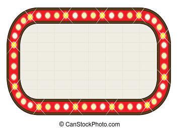Ad Board - A blank movie theatre or theatre marquee.