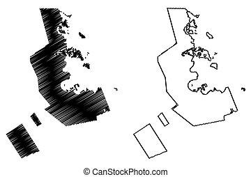 Ad-Dawhah (State of Qatar, Municipalities of Qatar) map ...