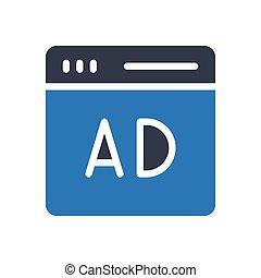 ad thin line icon