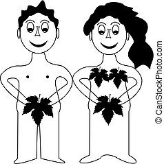Adam and Eve in Paradise , Adam and Eve